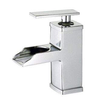 Belle Foret L425-CP Single Handle/Hole Open Spout Lavatory Faucet - Chrome