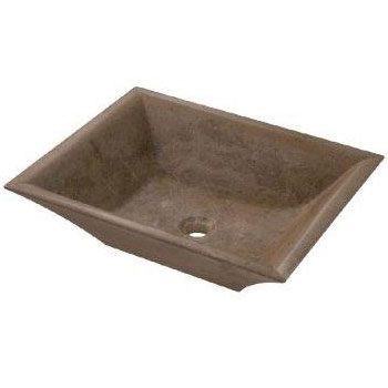 Belle Foret BFLT1CT Rectangular Stone Vessel Lavatory - Noche Travertine