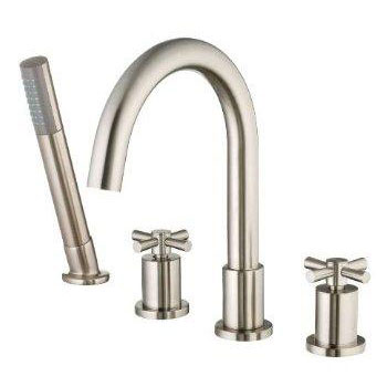 Belle Foret BFRT300SN Roman Tub Faucet with Handshower - Satin Nickel