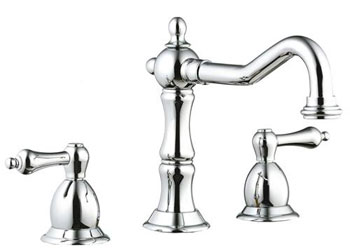 Belle Foret GWS01SN Two Handle Lavatory Widespread Faucet - Satin Nickel (Pictured in Chrome)