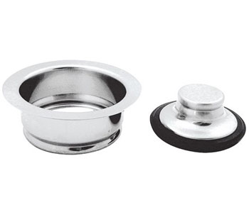 Belle Foret NDFSTB Universal Disposer Flange and Stopper - Tumbled Bronze (Pictured in Chrome)
