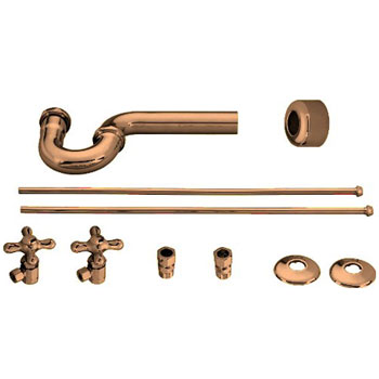 Belle Foret NLS01TB Lavatory Angle Support Kit - Tumbled Bronze