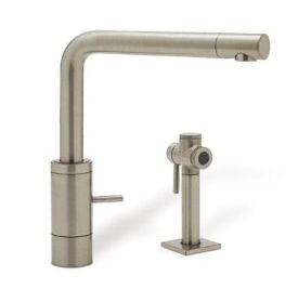 Blanco 440695 Podos Single Handle Kitchen Faucet with Side Spray - Satin Nickel