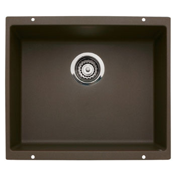 Blanco 440062 Precis Single Large Bowl Undermount Kitchen Sink - Cafe Brown