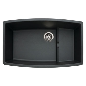 Blanco 440064 Performa Silgranit II Cascade Super Single Bowl Undermount Kitchen Sink - Anthracite