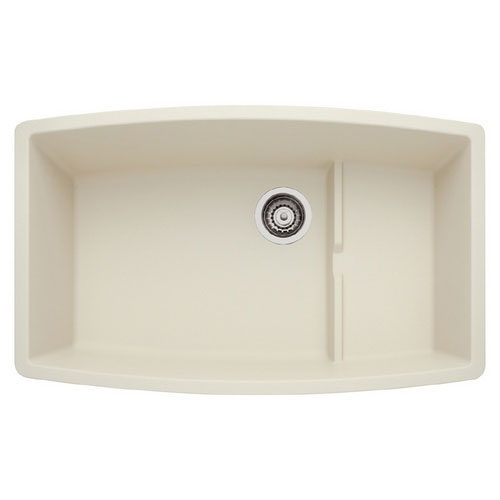 Blanco 440065 Performa Silgranit II Cascade Super Single Bowl Undermount  Kitchen Sink   Biscuit