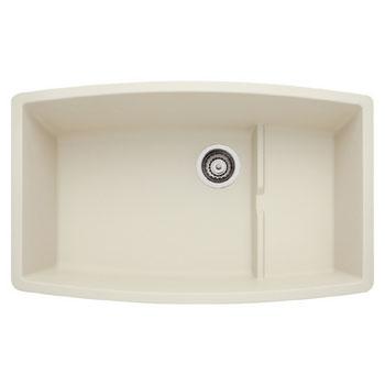 Blanco 440065 Performa Silgranit II Cascade Super Single Bowl Undermount Kitchen Sink - Biscuit