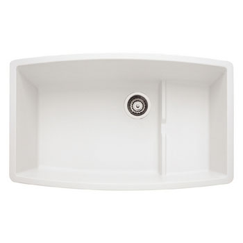 Blanco 440066 Performa Silgranit II Cascade Super Single Bowl Undermount Kitchen Sink - White