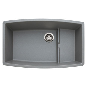 Blanco 440067 Performa Silgranit II Cascade Super Single Bowl Kitchen Sink Undermount - Metallic Gray