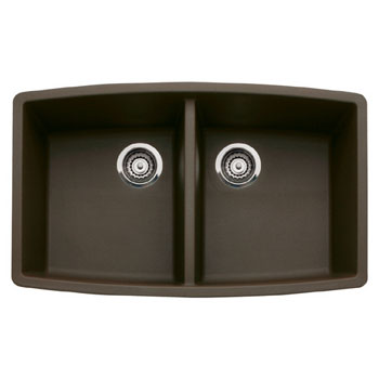 Blanco 440068 Performa Silgranit II Double Bowl Kitchen Sink Undermount - Cafe Brown