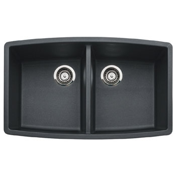 Blanco 440069 Performa Silgranit II Double Bowl Kitchen Sink Undermount  - Anthracite
