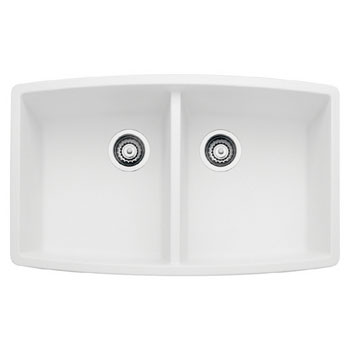 Blanco 440071 Performa Silgranit II Double Bowl Kitchen Sink Undermount - White