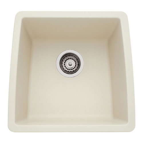 Blanco 440080 Performa Silgranit II Single Bowl Kitchen Sinks Undermount - Biscuit