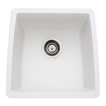 Blanco 440081 Performa Silgranit II Single Bowl Kitchen Sinks Undermount - White