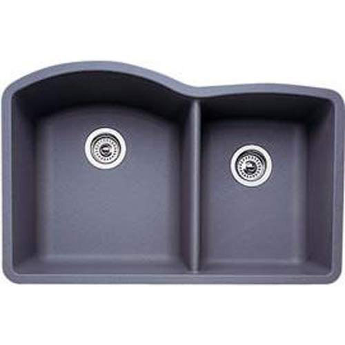 Blanco 440178 Diamond 1-3/4 Bowl Silgranit II Undermount Kitchen Sink - Metallic Gray