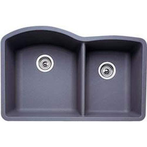 blanco diamond 134 bowl silgranit ii undermount kitchen sink metallic gray