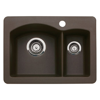 Blanco 440187 Diamond Silgranit II Prep Sink Drop-In - Cafe Brown