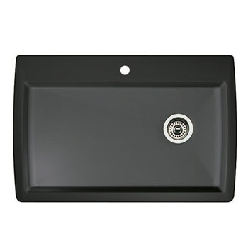 Blanco 440194 Diamond Super Single Bowl Drop-In Silgranit II Kitchen Sink - Anthracite