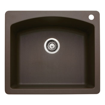 Blanco 440208 Diamond Single Bowl Silgranit II Drop-In Kitchen Sink - Cafe Brown