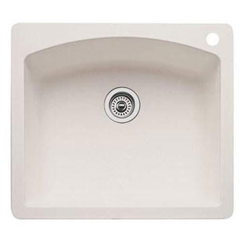blanco drop in kitchen sinks blanco 440212 single bowl drop in silgranit ii 7918