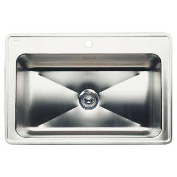 Blanco 440274 Blancomagnum Large Single Bowl Drop-In Kitchen Sink Depth 8'' - Stainless Steel