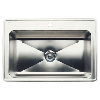 Blanco 440276 Magnum Large Single Bowl Drop-in Kitchen Sinks - Satin