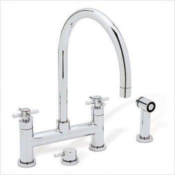 Blanco 440573 Meridian Kitchen Bridge Faucet with Cold Water Only Metal Side Spray