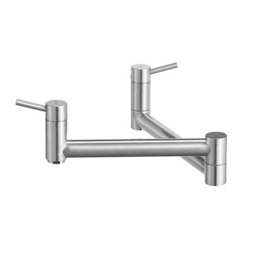 Blanco 441195 Cantata Wall Mounted Pot Filler - Satin Nickel