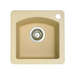 Blanco 441219 Diamond Silgranit II Bar Sink Dual Mount - Biscotti
