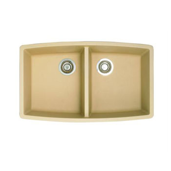 Blanco 441226 Performa Silgranit II Double Bowl Kitchen Sink Undermount - Biscotti