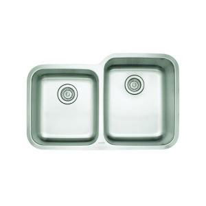 Blanco 441261 Stellar 1-3/4 Reverse Double Bowl Undermount Kitchen Sink - Stainless Steel