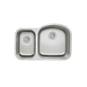 Blanco 441262 Stellar 1.6 Reverse Double Bowl Undermount Kitchen Sink - Stainless Steel