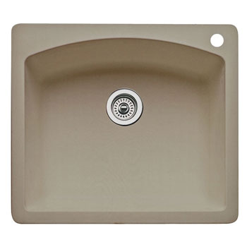 Blanco 441280 Diamond Single Bowl Drop-In Silgranit II Kitchen Sink - Truffle