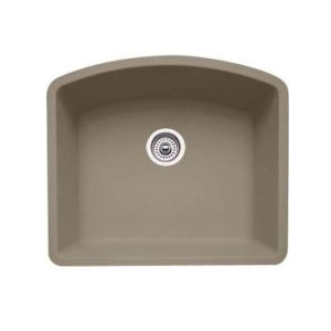 Blanco 441281 Diamond Single Bowl Silgranit II Undermount Kitchen Sink - Truffle