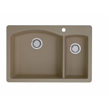 Blanco 441282 Diamond 1-1/2 Bowl Drop-In Silgranit II Kitchen Sink - Truffle