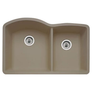 Blanco 441284 Diamond 1-3/4 Bowl Silgranit II Undermount Kitchen Sink - Truffle