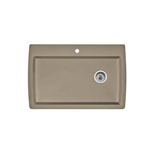 Blanco 441287 Diamond Super Single Bowl Drop-In Silgranit II Kitchen Sink - Truffle