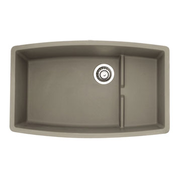 Blanco 441291 Performa Silgranit II Cascade Super Single Bowl Undermount Kitchen Sink - Truffle
