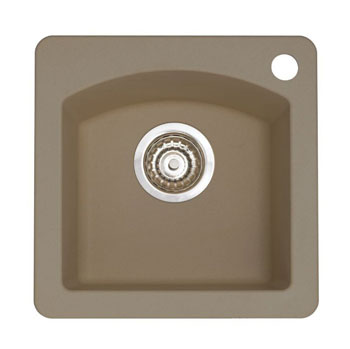 Blanco 441295 Diamond Silgranit II Bar Sink Dual Mount - Truffle
