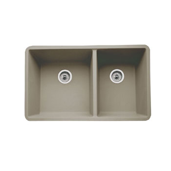 Blanco 441296 Precis 1-3/4 16'' Bowl Undermount Kitchen Sink - Truffle