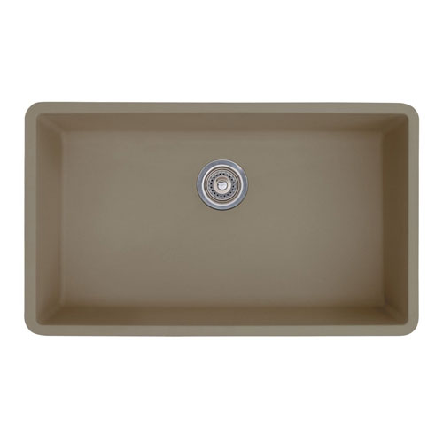 Blanco 441297 Precis Super Single Bowl Undermount Silgranit Kitchen Sink - Truffle