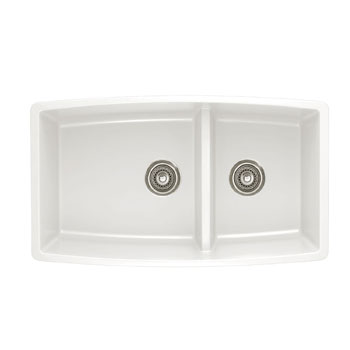 Blanco 441310 Performa Silgranit II 1-3/4 Double Bowl Undermount - White