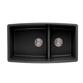 Blanco 441312 Performa Silgranit II 1-3/4 Double Bowl Undermount - Anthracite