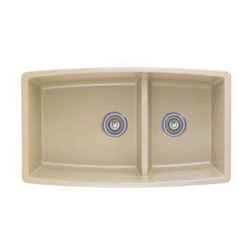 Blanco 441314 Performa Silgranit II 1-3/4 Double Bowl Undermount - Biscotti