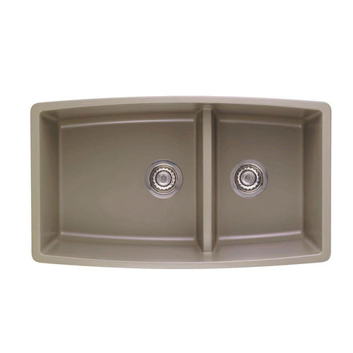 Blanco 441315 Performa Silgranit II 1-3/4 Double Bowl Undermount - Truffle