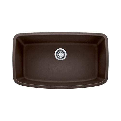 Blanco 441613 Valea Super Single Bowl Silgranit II Undermount Kitchen Sink - Cafe Brown