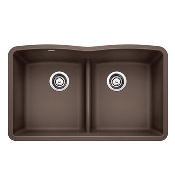 BLANCO 442078 DIAMOND Equal Double Bowl with Low-Divide - Cafe Brown