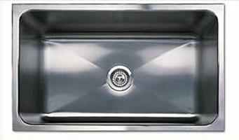 Blanco 440302 Blancomagnum Specialty Single Bowl Kitchen Sink - Stainless Steel