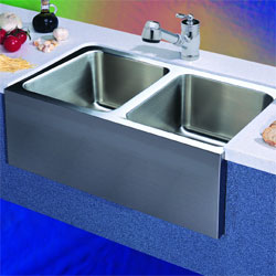 Blanco 440286 Blancomagnum Double Bowl Kitchen Sink with Apron - Stainless Steel