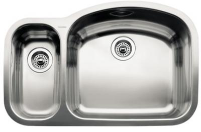 Blanco 440243 Blancowave 1-1/2 Bowl Undermount Kitchen Sink - Stainless Steel